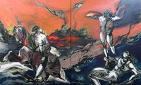 "Against The Tide (after Gericault's ""Mazeppa"" ) (Diptych) (2011)"