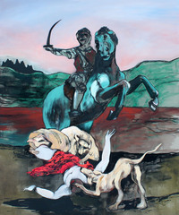 Jezebel Eaten By Dogs (After Luca Giordano)  (2013)
